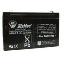 riasztóbolt, riasztobolt, DIAMEC 6V 7,2Ah akkumulátor